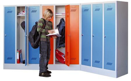 Übersichtsfoto Schulspinde