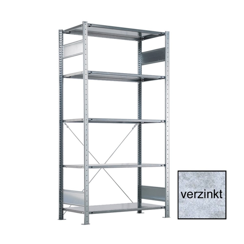 META CLIP Grundregal 2000 x 1000 x 600 mm, 5 Böden, verzinkt