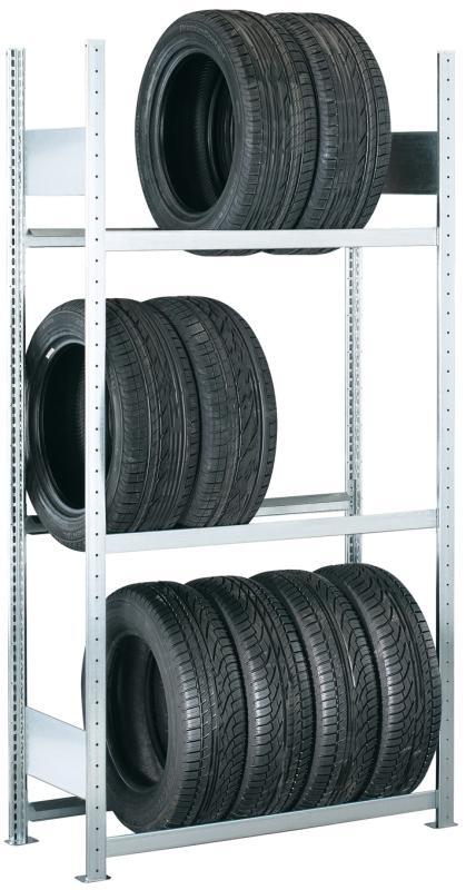 META CLIP Reifengrundregal 2000 x 1000 x 400 mm, 3 Ebenen