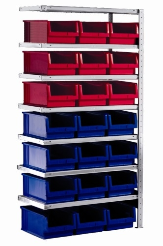 meta clip anbauregal 2000 x 1000 x 500 mm 7 b den 21 k sten. Black Bedroom Furniture Sets. Home Design Ideas