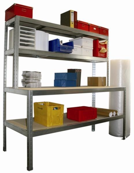 META SPEED-RACK Packtisch 1970 x 2000 x 800 mm, 4 Ebenen