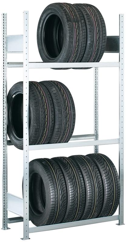 SCHULTE Räder/Reifengrundregal, 3 Lagerebenen
