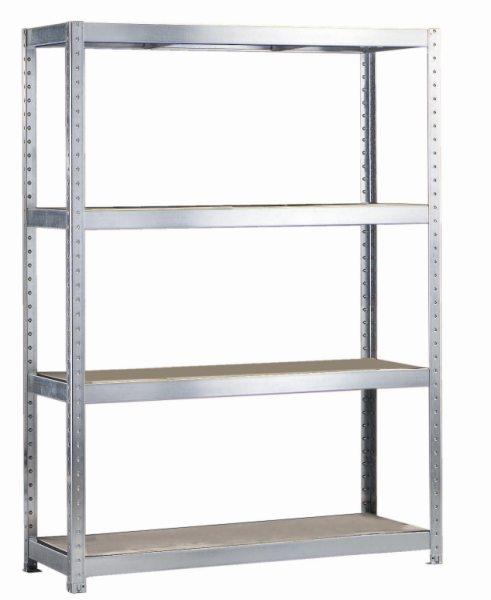 META SPEED-RACK Weitspannregal 1970 x 1700 x 400 mm, 4 Ebenen, Spanplattenböden