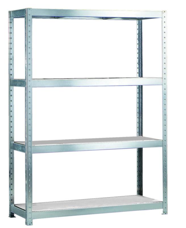 META SPEED-RACK Weitspannregal 1970 x 1700 x 600 mm, 4 Ebenen, Stahlpaneelböden