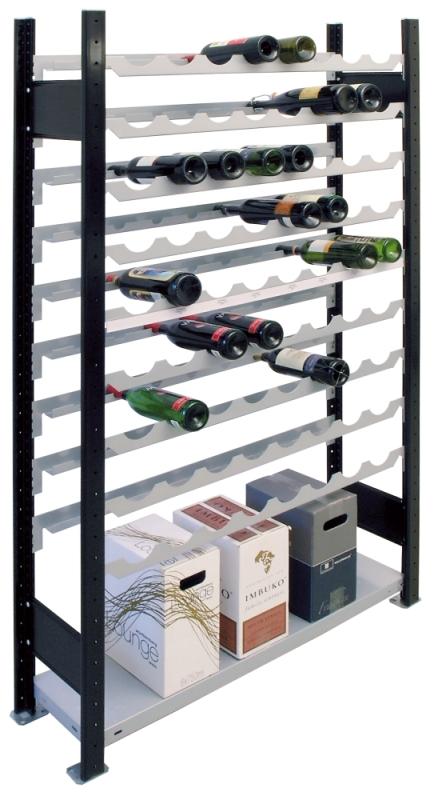 SCHULTE Wein-Grundregal 1800 x 1000 x 250 mm, 9 Ebenen