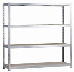 META SPEED-RACK Weitspannregal 2970 x 2500 x 800 mm, 4 Ebenen, Spanplattenböden