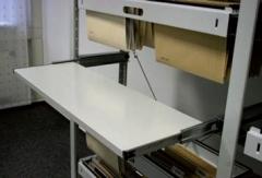 META CLIP Ausziehbarer Fachboden 1000 x 300 einseitig, lichtgrau