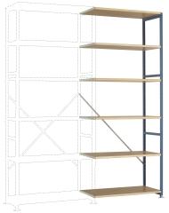MANUFLEX Planoflex Anbauregal 2500 x 1000 x 400 mm, 6 Böden