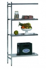 SCHULTE Lebensmittel-Anbauregal Aluminium 1800 x 800 x 600 mm
