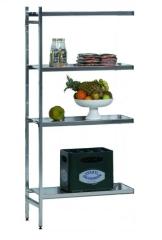 SCHULTE Lebensmittel-Anbauregal Aluminium 1950 x 800 x 400 mm
