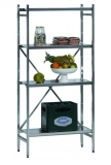SCHULTE Lebensmittel-Grundregal Aluminium 1950 x 1000 x 400 mm