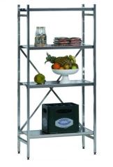 SCHULTE Lebensmittel-Grundregal Aluminium 1950 x 1200 x 400 mm