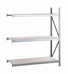 META MINI-RACK Anbauregal 2200 x 1400 x 1050 mm, 3 Ebenen, Stahlpaneelauflage