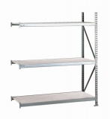 META MINI-RACK Anbauregal 2200 x 1800 x 650 mm, 3 Ebenen, Stahlpaneelauflage