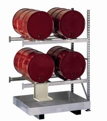META MINI-RACK Fassanbauregal 2200 x 1400 x 800 mm, 2 Böden