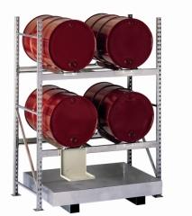 META MINI-RACK Fassgrundregal 2200 x 1400 x 800 mm, 2 Böden