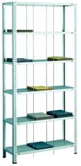 SCHULTE Büro-Fädelstabgrundregal 2300x900x350 mm