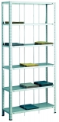 SCHULTE Büro-Fädelstabgrundregal 2000x900x350 mm