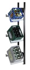 SCHULTE Getränkekisten-Anbauregal 1800 x 400 x 300 mm, 3 Ebenen