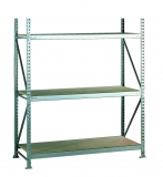 META MINI-RACK Grundregal 2200 x 1400 x 650 mm, 3 Ebenen, Spanplattenauflage