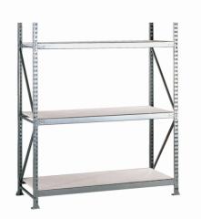 META MINI-RACK Grundregal 2200 x 1800 x 650 mm, 3 Ebenen, Stahlpaneelauflage