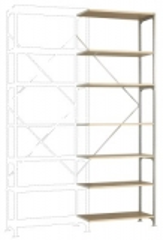 MANUFLEX Budget Anbauregal 3000 x 1000 x 400 mm, 7 Böden