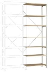 MANUFLEX Budget Anbauregal 3000 x 1000 x 600 mm, 7 Böden