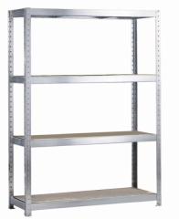 META SPEED-RACK Weitspannregal 2470 x 1700 x 400 mm, 4 Ebenen, Spanplattenböden