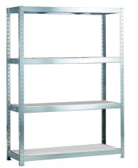 META SPEED-RACK Weitspannregal 2970 x 1700 x 400 mm, 4 Ebenen, Stahlpaneelböden