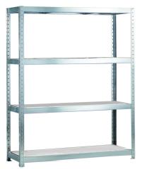 META SPEED-RACK Weitspannregal 2970 x 2000 x 400 mm, 4 Ebenen, Stahlpaneelböden